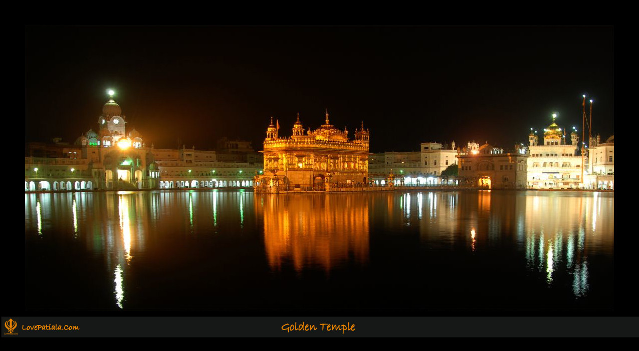 Golden temple at night for Golden night