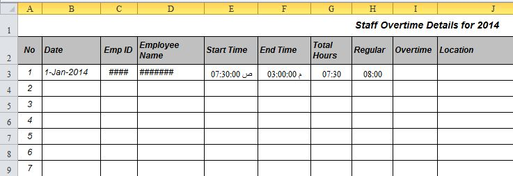 how to calculate total hours and overtime in excel