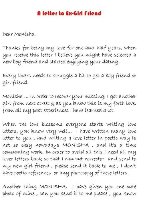 Love Letter To Ex Wife